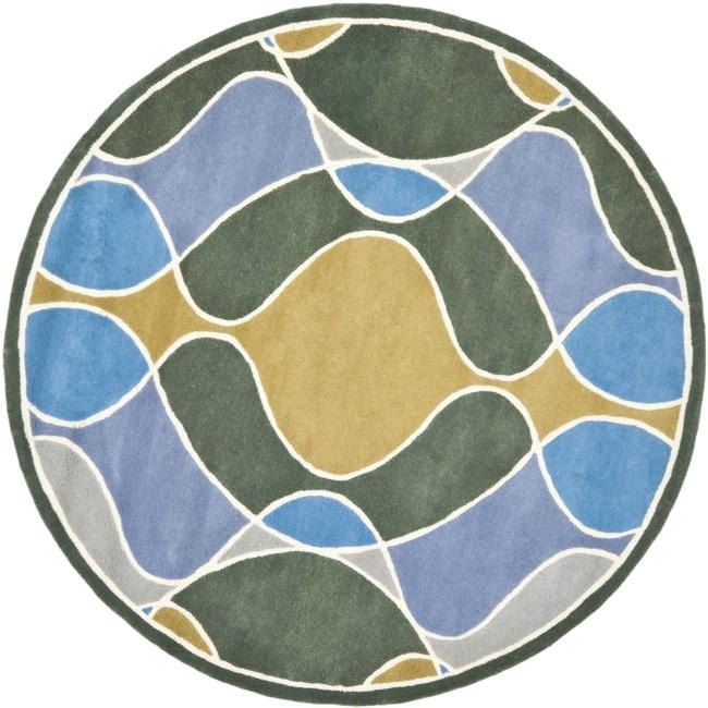 Safavieh Handmade Soho Modern Abstract Grey Wool Rug