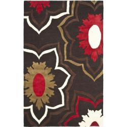 Handmade Memories Brown New Zealand Wool Rug (7'6 x 9'6)