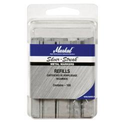 Silver Streak Fineline Flat Metal Marker Refills (Pack of 100)
