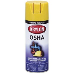 Krylon 12oz. Special Purpose Safety Yellow Aerosol Paint (Pack of 6)
