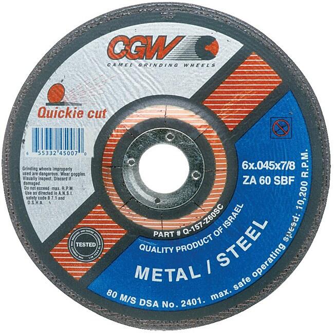 CGW 6-Inch Quickie Cut Extra Thin Cut-Off Wheels