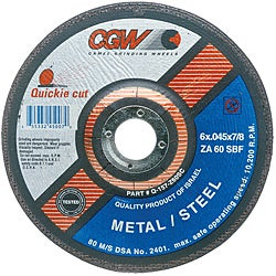 CGW 4.5-Inch Quickie Cut Extra Thin Cut-Off Wheels