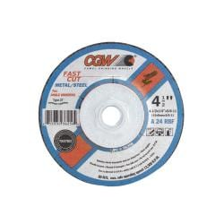 CGW Abrasives Fast-cut 'Type 27' Depressed Center Wheel