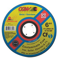 CGW Abrasives 'Type 1' Quickie Cut 4 1/2-inch x .045-inch x 7/8-inch Cutt-off Wheel