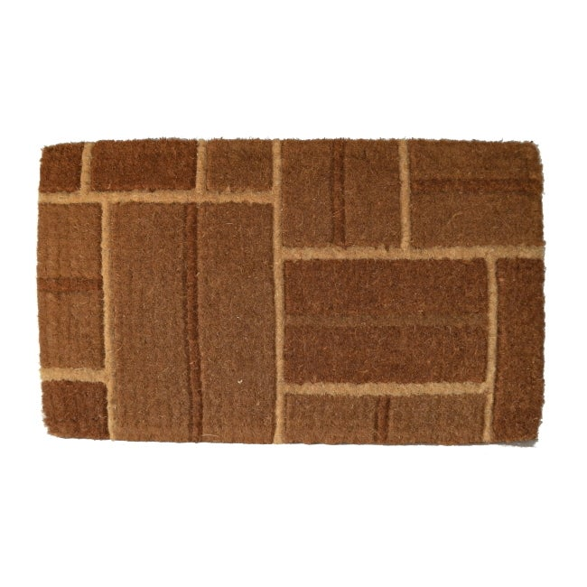 coir outdoor yellow brick door mat 24 x 48 14008290 overstock
