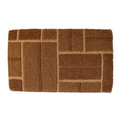 Coir Outdoor Yellow Brick Door Mat (24 x 48)