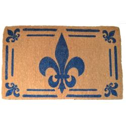 Coir outdoor fleur de lis door mat 30 x 48 overstock shopping big discounts on door mats - Fleur de lis doormat ...