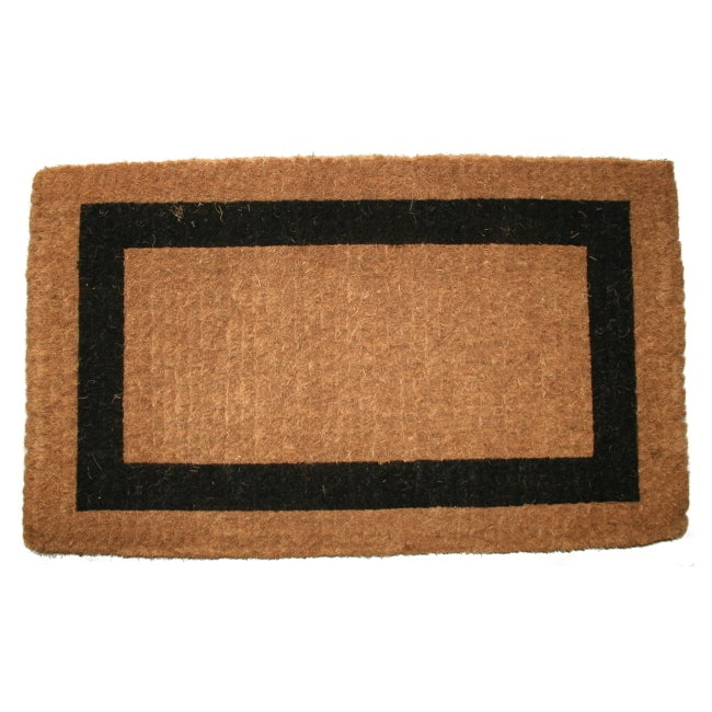 heavy duty coir no border doormat