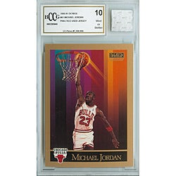 Michael Jordan Mint 10 Used Practice Game Jersey and GGUM Card