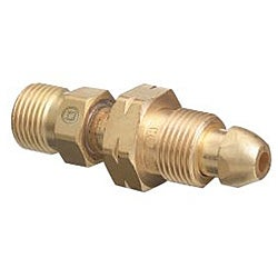 Western Enterprises Brass Cylinder Cga 510 Nut/Nip X Cga 300 Adapter