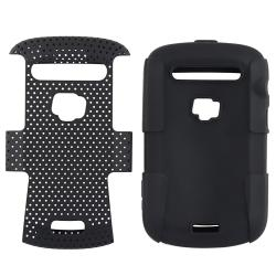Black/ Black Hybrid Case for BlackBerry Bold 9900/ 9930
