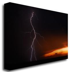 Kurt Shaffer 'Lightning Sunset VI' Canvas Art