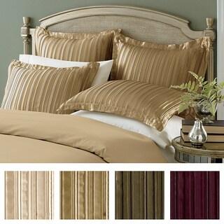 Striped 100-percent Polyester Pleated Satin Euro Sham (26' x 26')