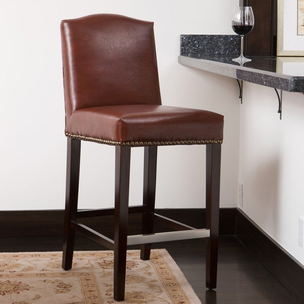 Bolton Brown Bonded Leather Counter Stool