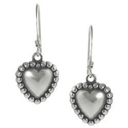 Journee Collection Sterling Silver Children's Heart Dangle Earrings