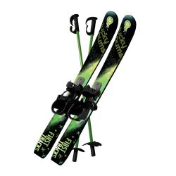 Lucky Bums Kids 70cm Plastic Skis and Poles Set