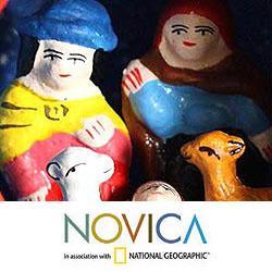 Set of 4 Ceramic 'Christ Child' Ornaments (Peru)