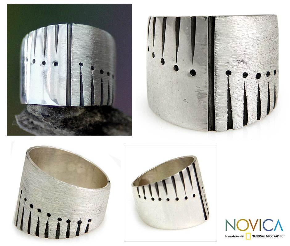 Sterling Silver Men's 'Natural Harmony' Ring (Indonesia)