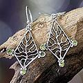 Sterling Silver 'Tree of Life' Peridot Earrings (Indonesia)