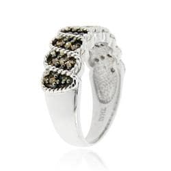 DB Designs Sterling silver 1/4ct TDW Brown Diamond Ring