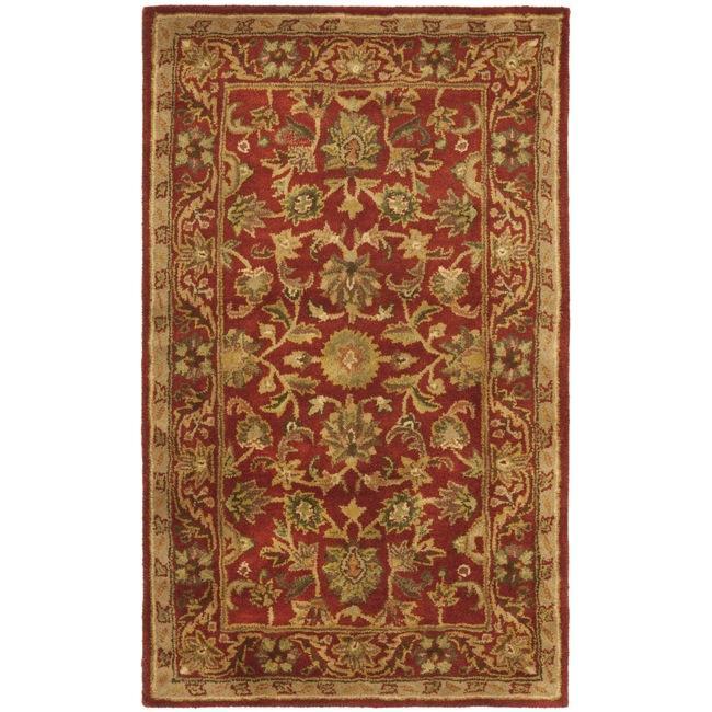 Safavieh Handmade Heirloom Red Wool Rug (4' x 6')