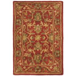 Safavieh Handmade Heirloom Red Wool Rug (2' x 3')