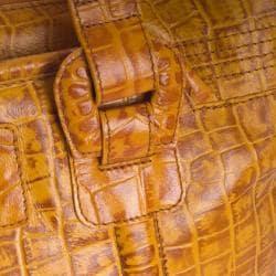 Michael Rome Croc-embossed Large Satchel