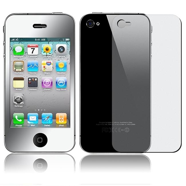 LCD Mirror 2-piece Screen Protector for Apple iPhone 4