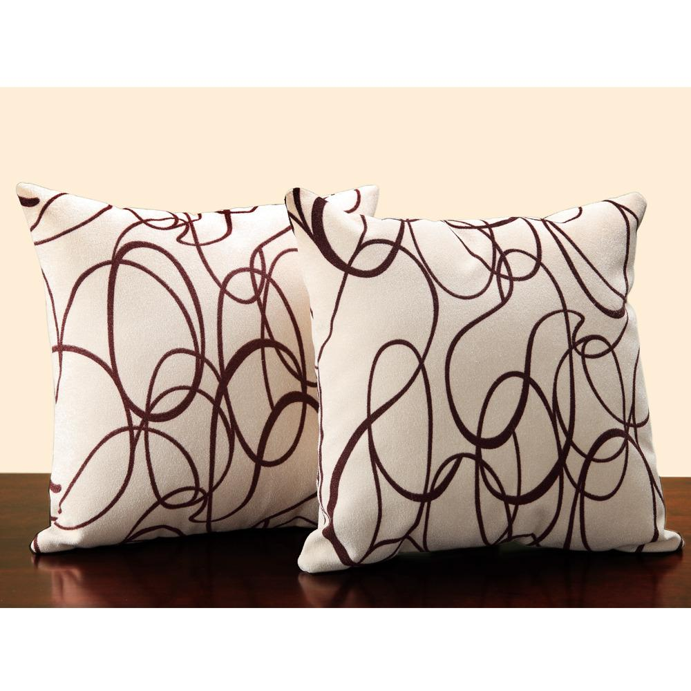 18-inch Swirl Print Throw Pillows (Set of 2)