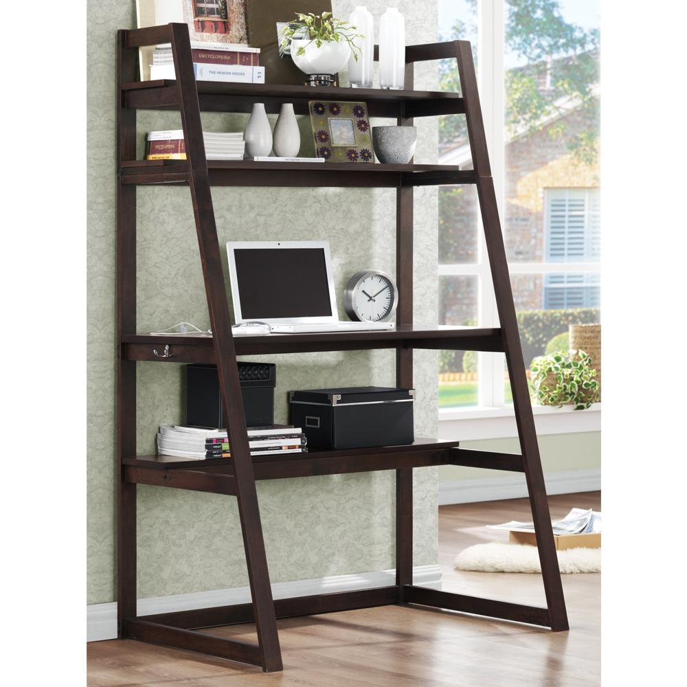 Aldosa Ladder Desk And Shelf 13049146 Overstock Com