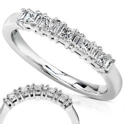 14k White Gold 1/4ct TDW Diamond Wedding Band