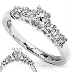 14k White Gold 1/2ct TDW Diamond Engagement Ring (H-I, I1-I2)