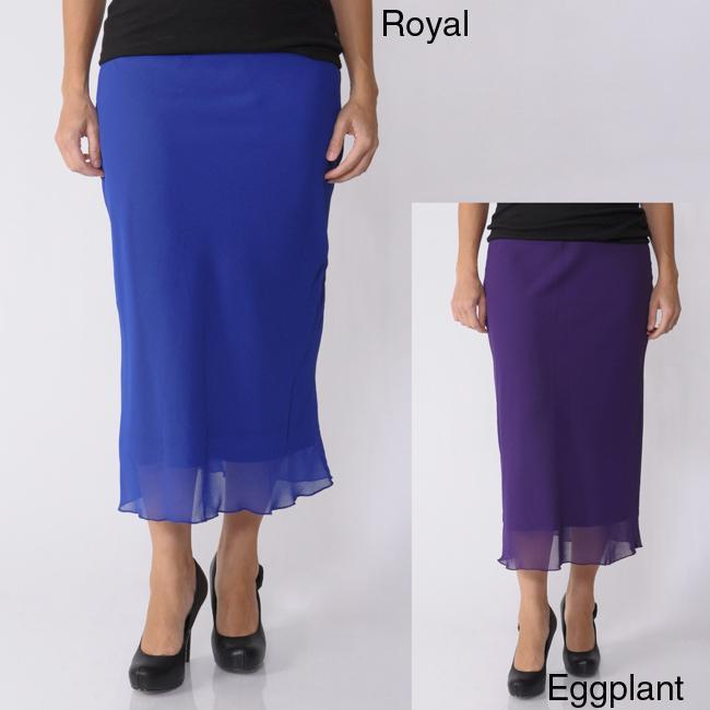 Jody California Women's Long Chiffon Skirt