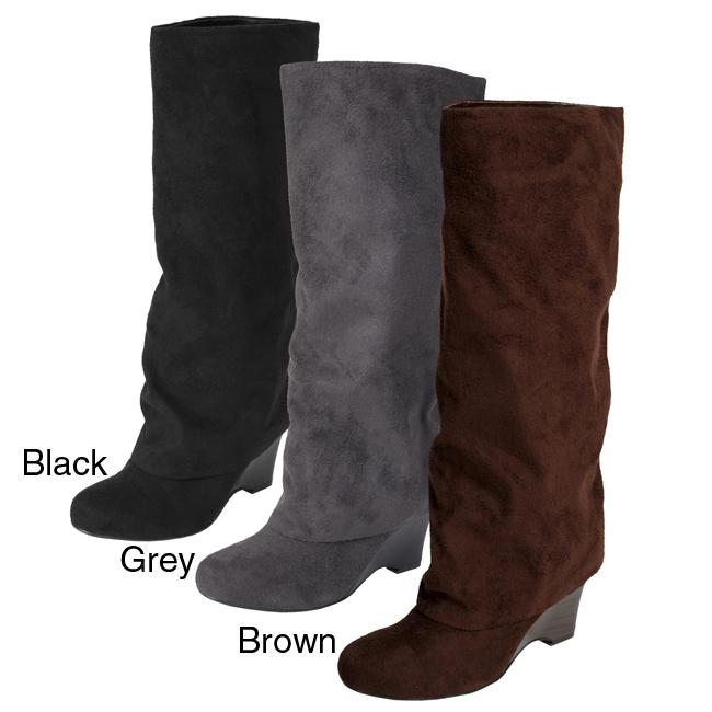 Glaze by Adi Women's Faux Suede Tall Boots