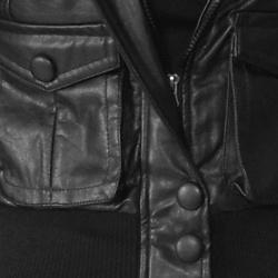 Soho Babe Women's Two-pocket Polyurethane Jacket