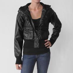 Soho Babe Women's Two-pocket Polyurethane Jacket