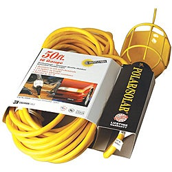 Coleman Cable Yellow Trouble Light