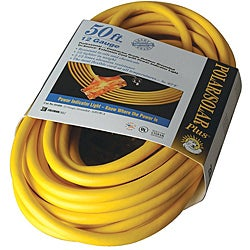 Coleman Cable Tri-Source Yellow Multiple Outlet Extension Cord