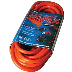 Coleman Cable Orange Heavy-Duty Extension Cord (25-Foot)