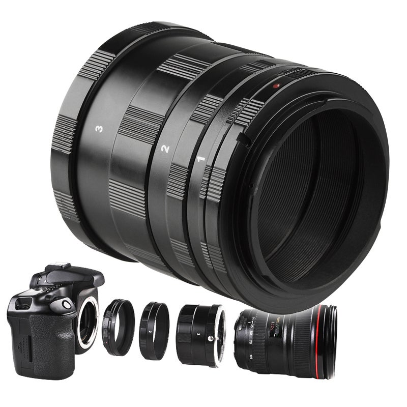 INSTEN Macro Extension Tube Set for Canon Cameras