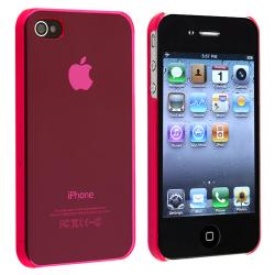 Clear Pink Snap-on Slim-fit Case for Apple iPhone 4/ 4S