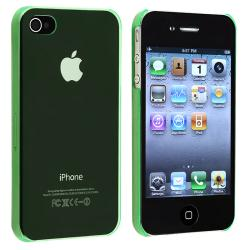 Clear Green Snap-on Slim-fit Case for Apple iPhone 4/ 4S