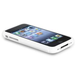 White S-shape TPU Rubber Skin Case for Apple iPhone 3G/ 3GS