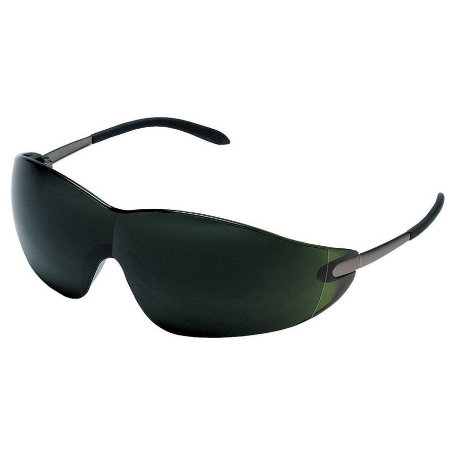 Crews Blackjack Green Lens Safety Glasses
