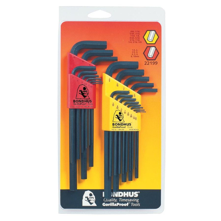 Bondhus 22-Piece Hex L-Wrench Combination Set