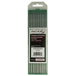 Anchor Pure Grounded Tungsten Green-Tip Electrodes (Pack of 10)