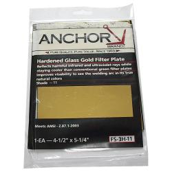Anchor 4.5-inch x 5.25-inch Hardened Glass Gold Filter Plate