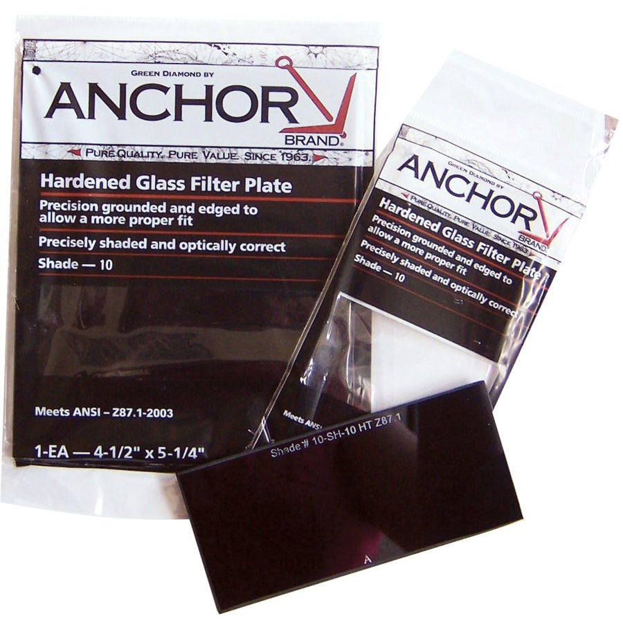 Anchor 2-inch x 4.25-inch Hardened Glass Green Filter Plate