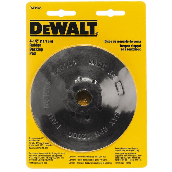 "4-1/2"" Rubber Backing Pads"
