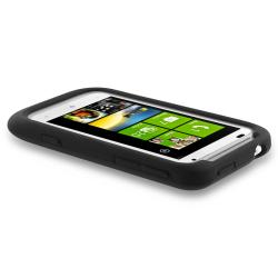 Black Silicone Skin Case for HTC Radar 4G